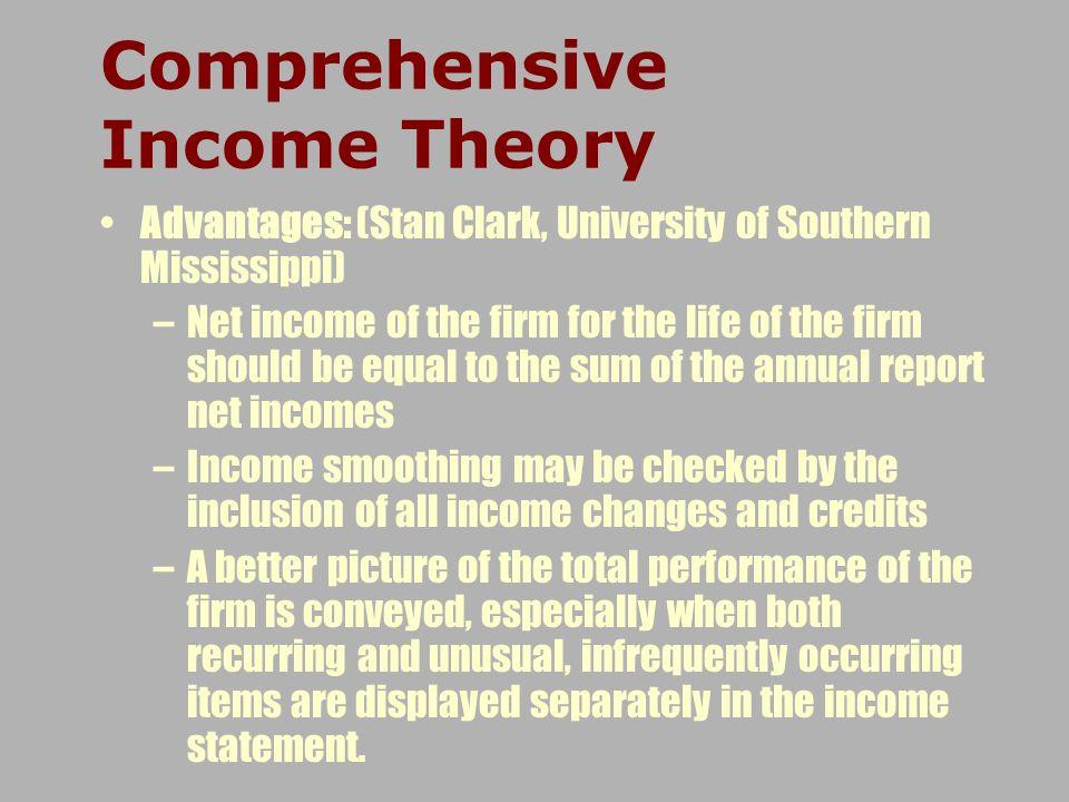 Comprehensive Income Theory