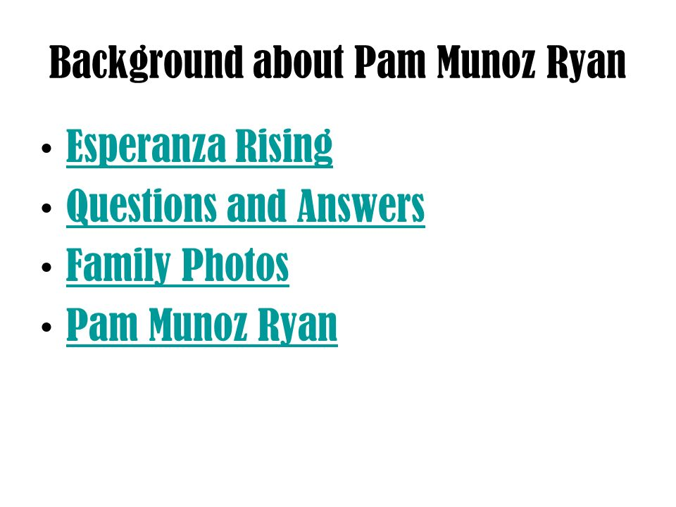 Background about Pam Munoz Ryan