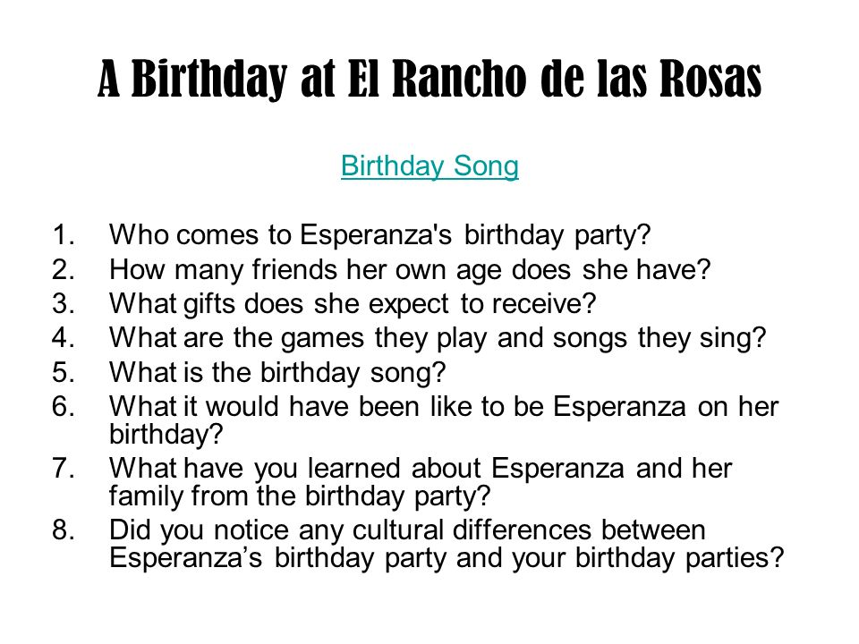 A Birthday at El Rancho de las Rosas