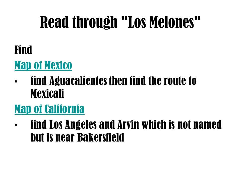 Read through Los Melones