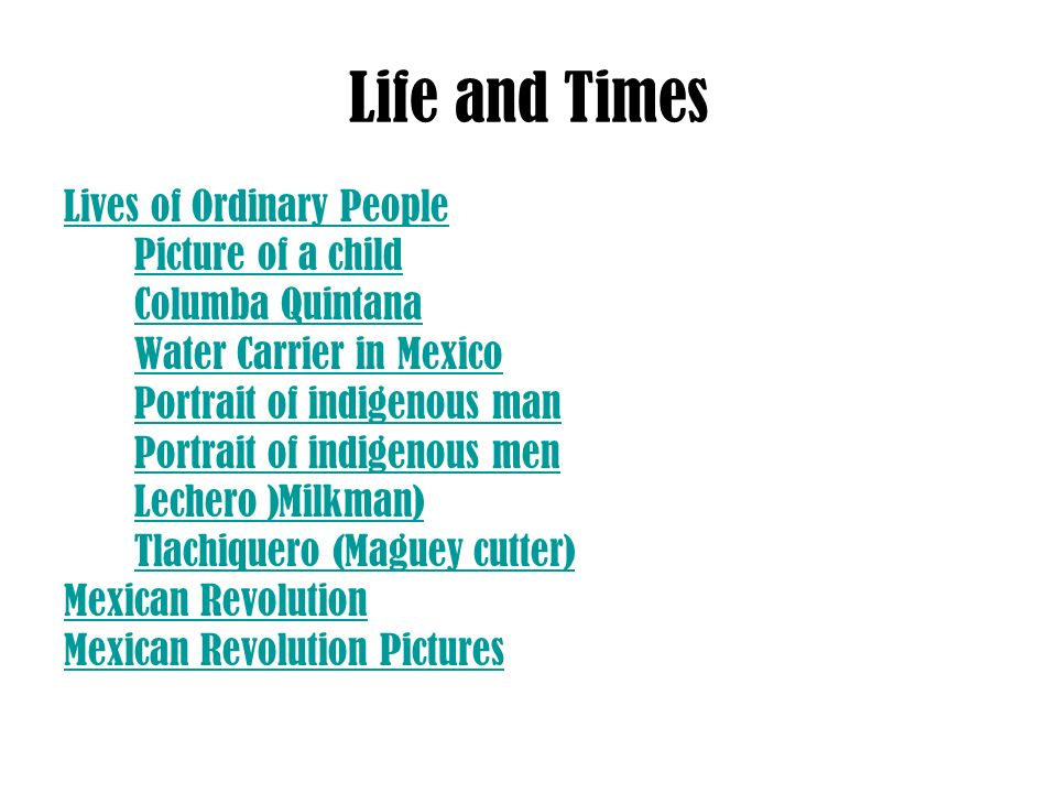 Life and Times Lives of Ordinary People Picture of a child