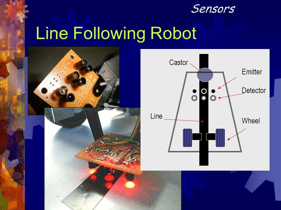 Sensors Line Following Robot Emitter Detector Castor Line Wheel