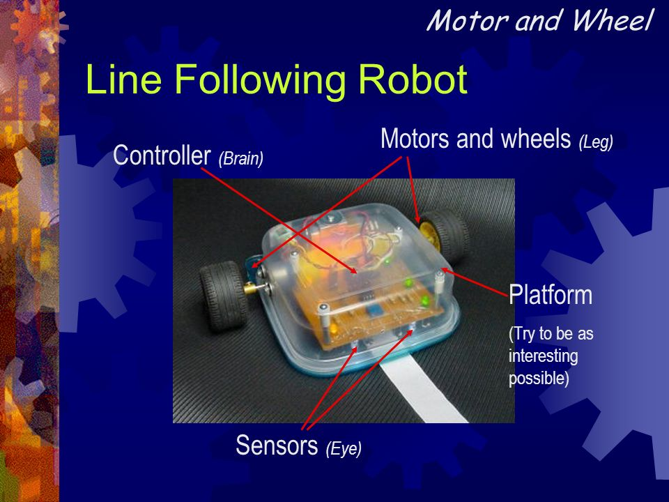 Line Following Robot Motor and Wheel Motors and wheels (Leg)