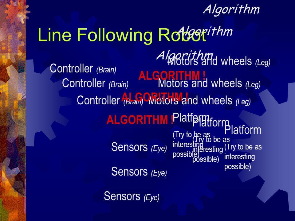 Line Following Robot Algorithm Algorithm Algorithm
