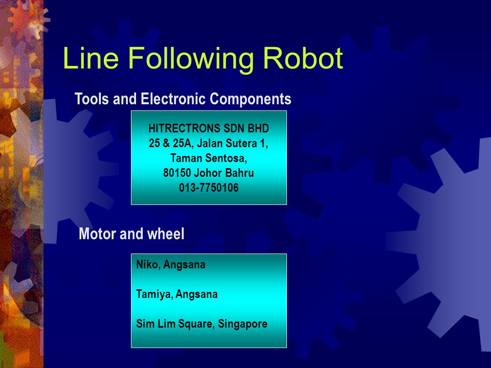 Line Following Robot Tools and Electronic Components Motor and wheel