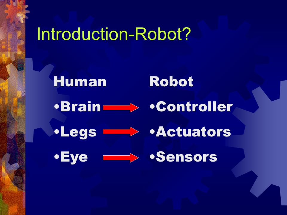 Introduction-Robot Human Brain Legs Eye Robot Controller Actuators