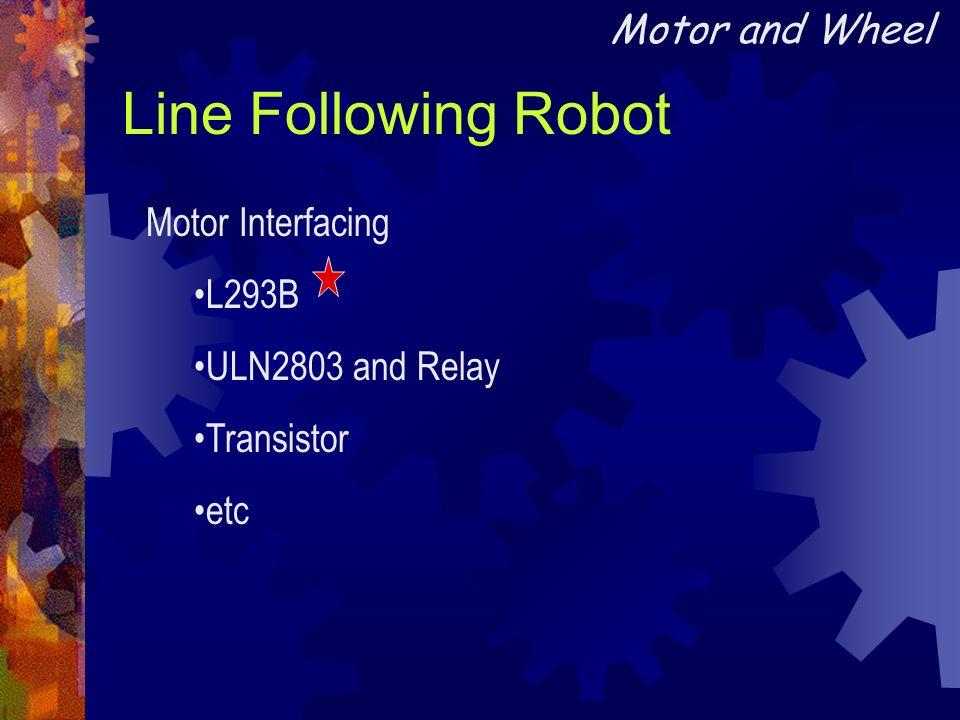 Line Following Robot Motor and Wheel Motor Interfacing L293B