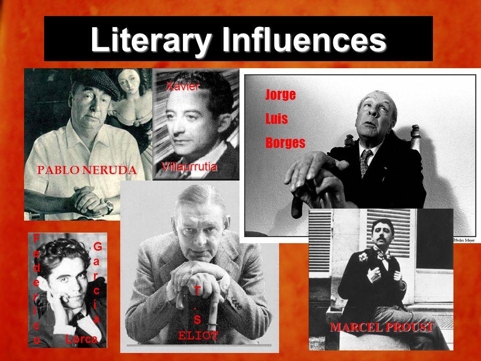 Literary Influences Jorge Luis Borges ELIOT Xavier Villaurrutia