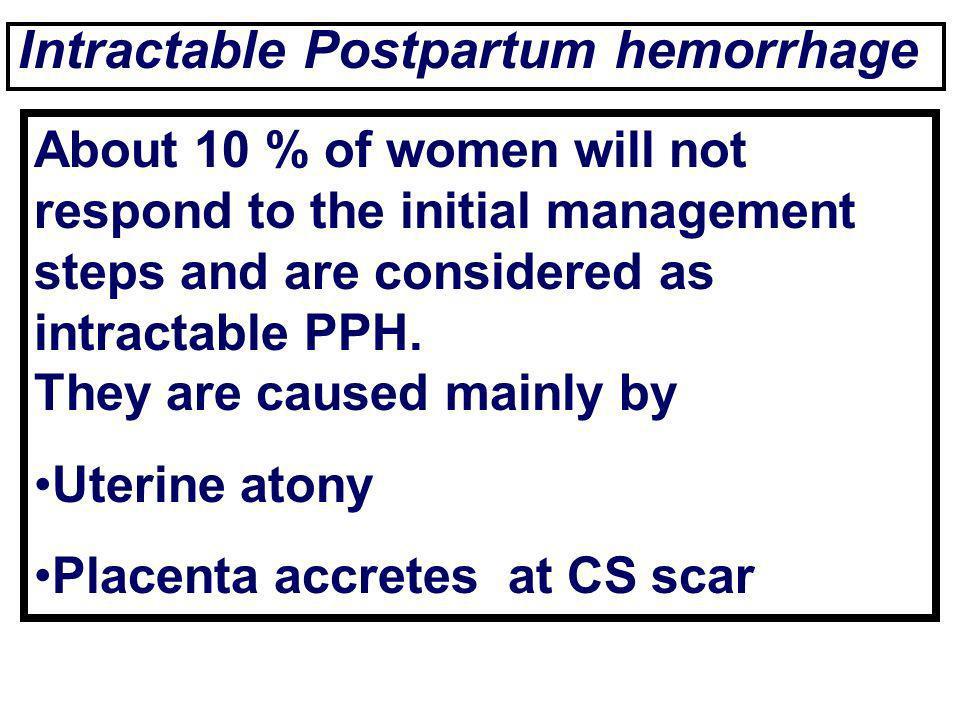 Intractable Postpartum hemorrhage