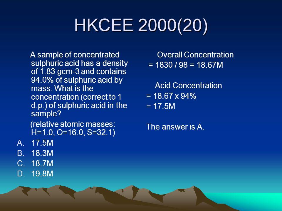 HKCEE 2000(20)