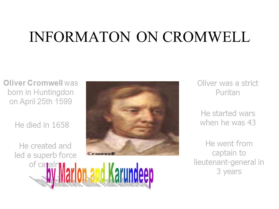 INFORMATON ON CROMWELL
