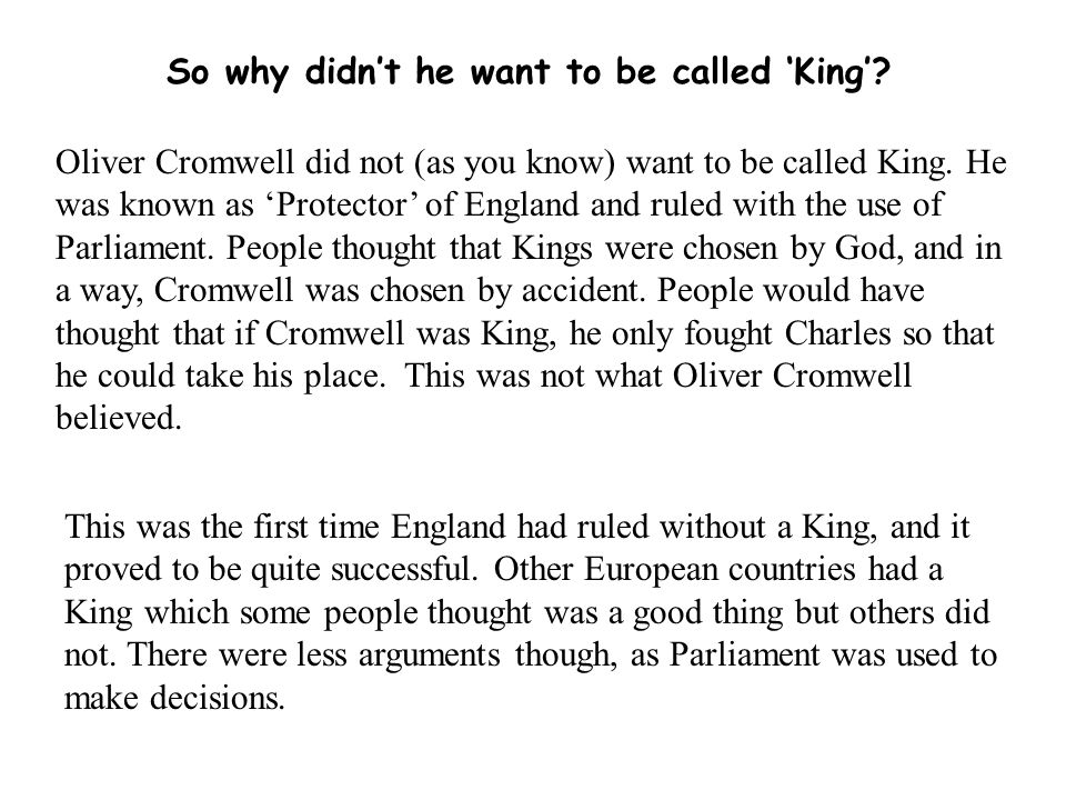 So why didn't he want to be called 'King'