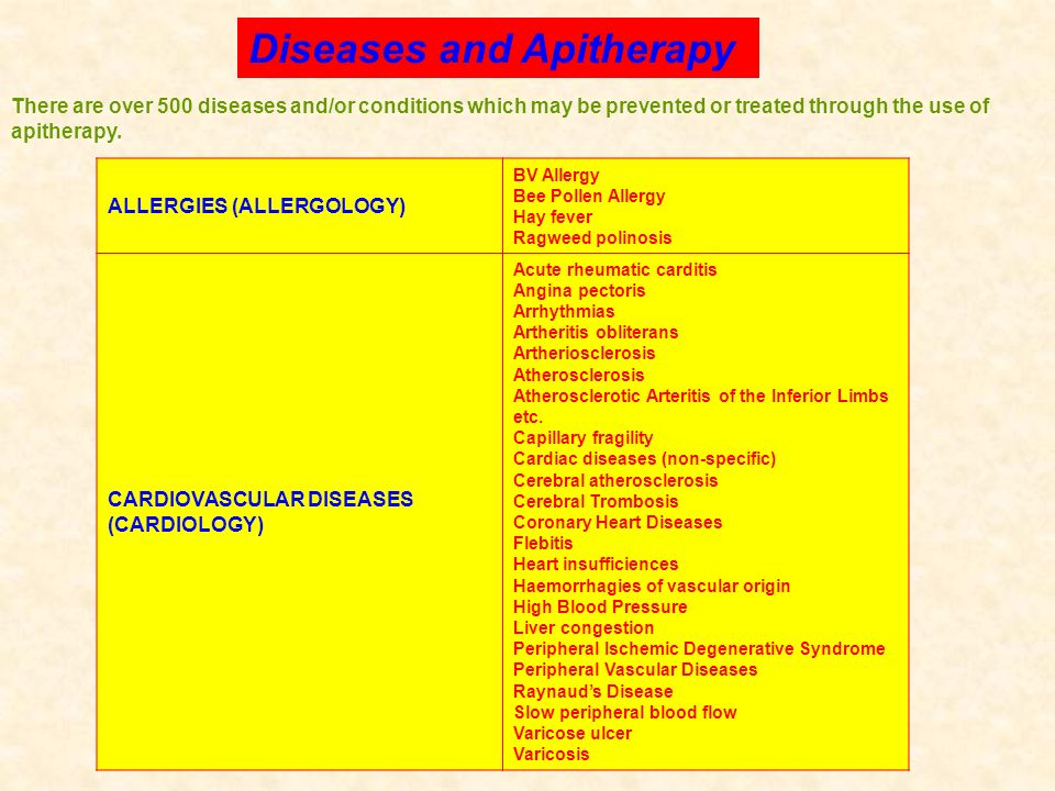 Diseases and Apitherapy