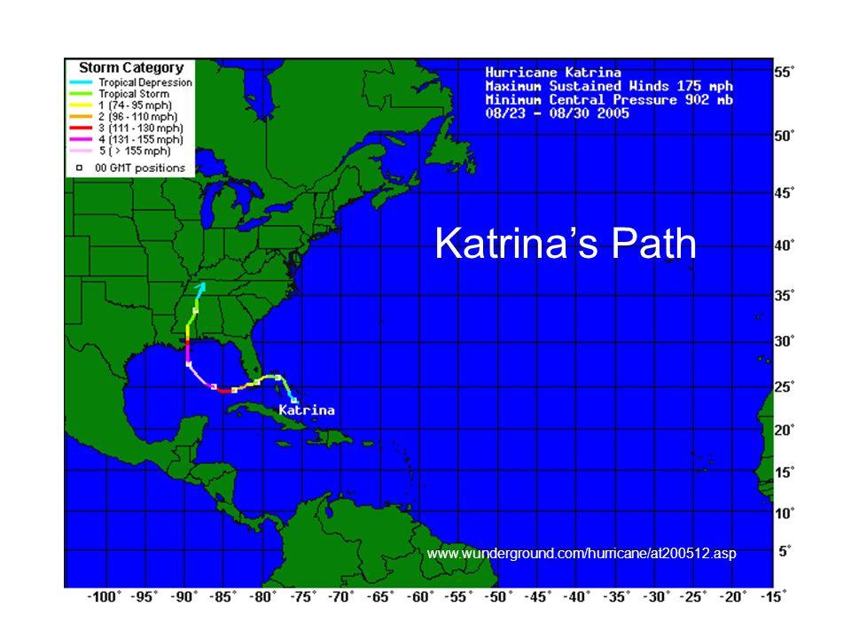Katrina's Path www.wunderground.com/hurricane/at200512.asp
