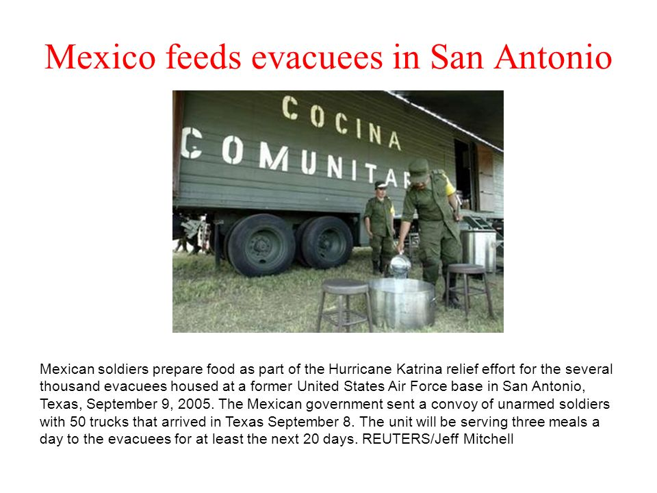Mexico feeds evacuees in San Antonio