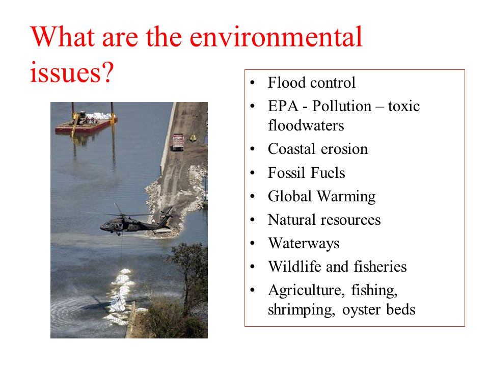 What are the environmental issues