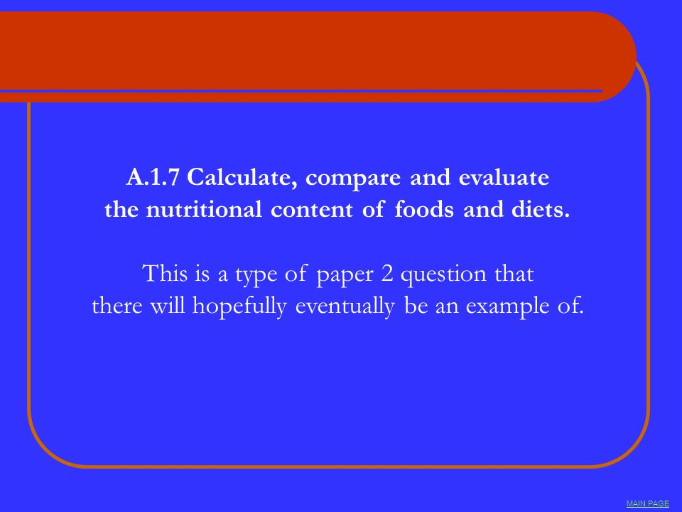A.1.7 Calculate, compare and evaluate