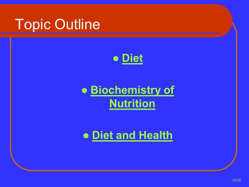 Biochemistry of Nutrition