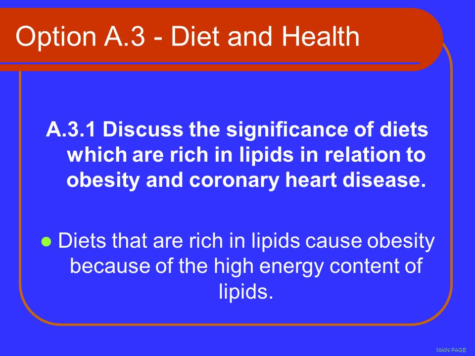 Option A.3 - Diet and Health