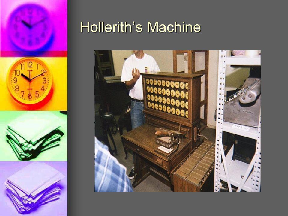 Hollerith's Machine