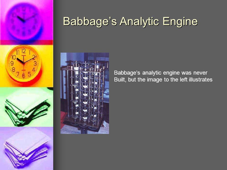 Babbage's Analytic Engine