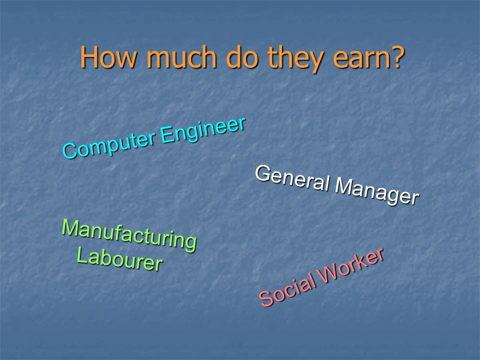 How much do they earn Computer Engineer General Manager