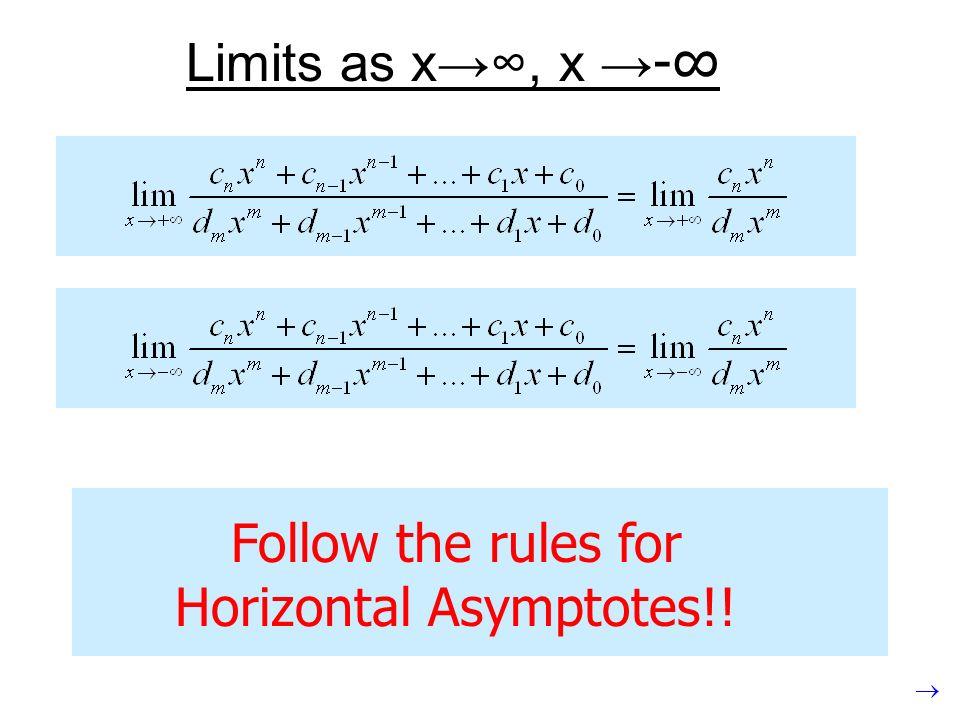 Horizontal Asymptotes!!