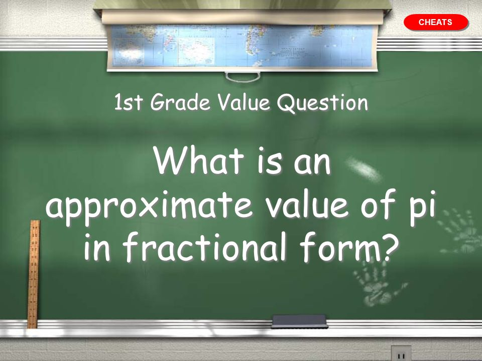 1st Grade Value Question