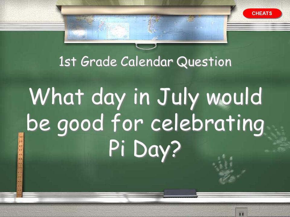 1st Grade Calendar Question
