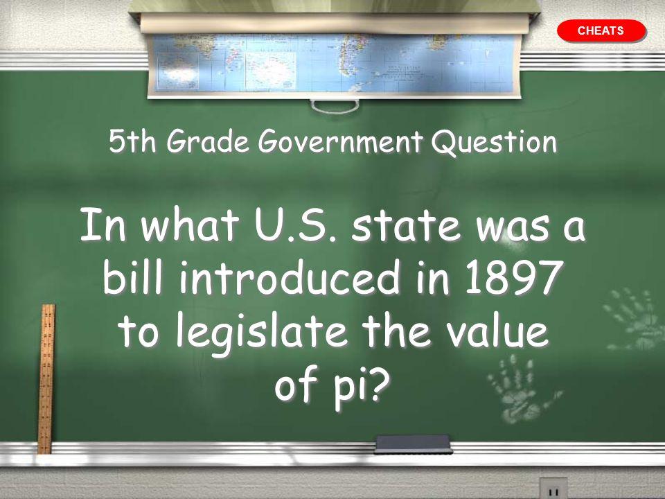 5th Grade Government Question