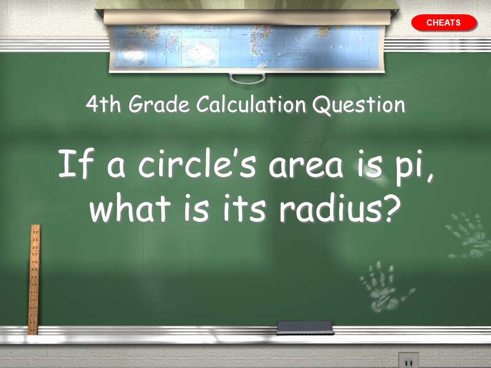 4th Grade Calculation Question