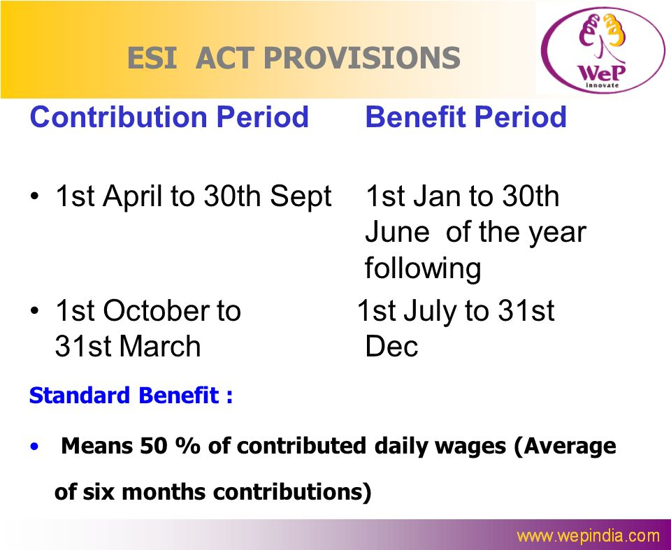 Contribution Period Benefit Period