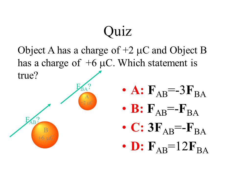 Quiz A: FAB=-3FBA B: FAB=-FBA C: 3FAB=-FBA D: FAB=12FBA