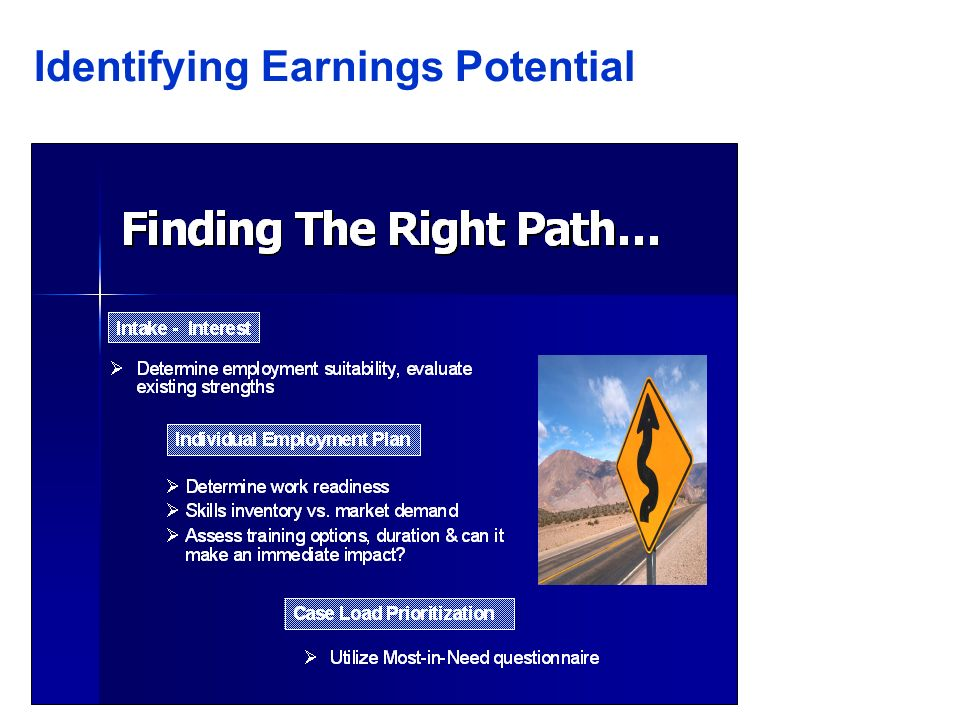 Identifying Earnings Potential