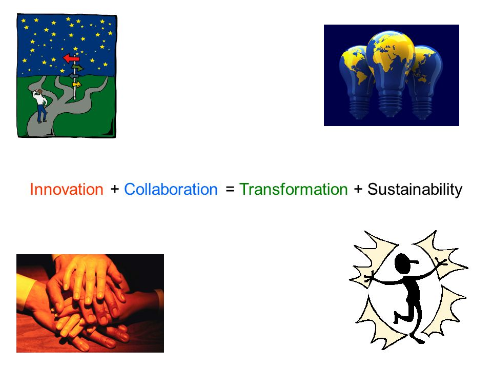 Innovation + Collaboration = Transformation + Sustainability