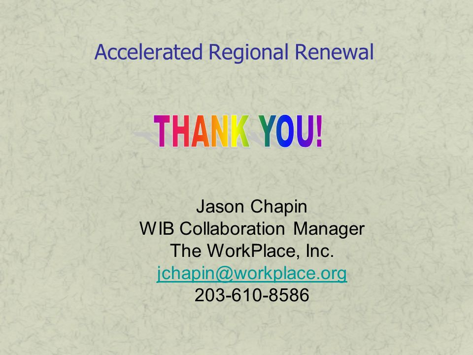 Accelerated Regional Renewal