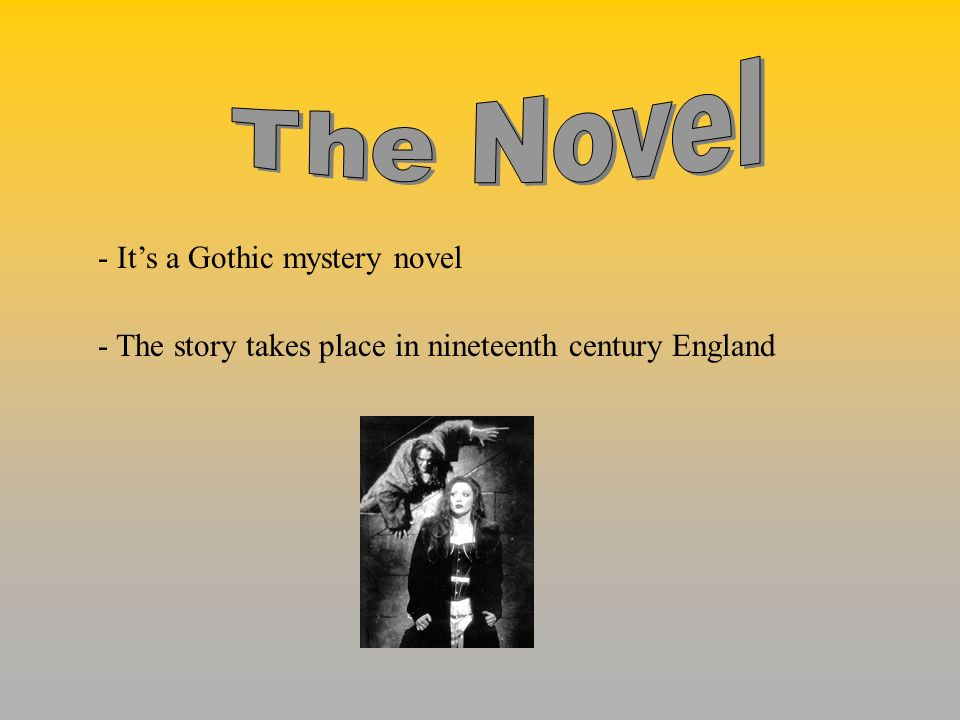 The Novel - It's a Gothic mystery novel