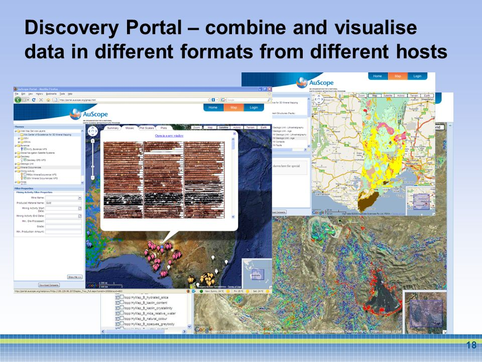 Discovery Portal – combine and visualise data in different formats from different hosts