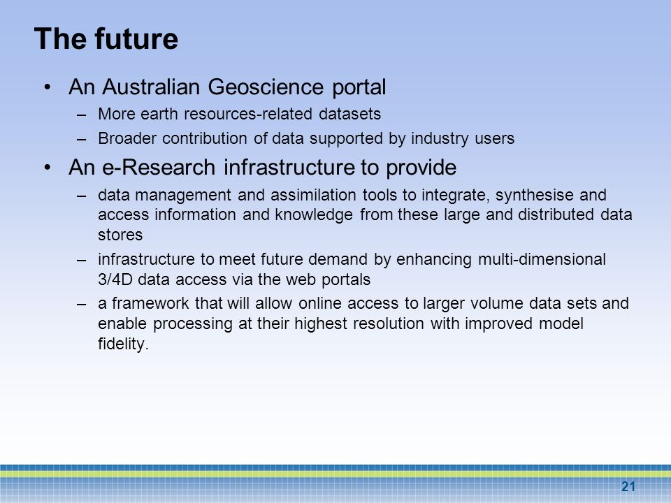 The future An Australian Geoscience portal