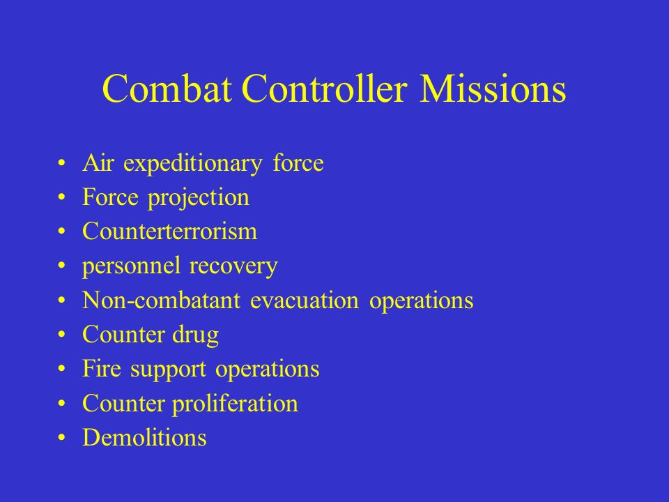 Combat Controller Missions