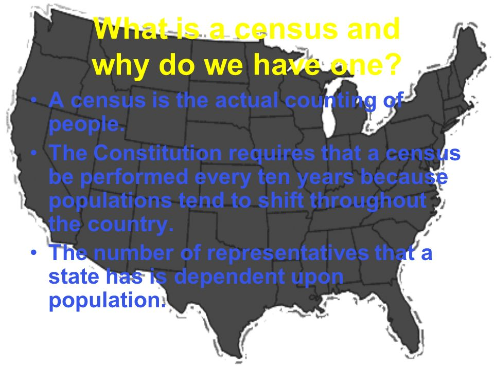 What is a census and why do we have one