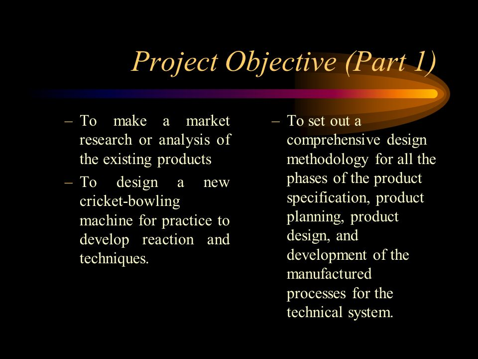 Project Objective (Part 1)