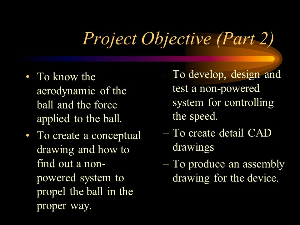 Project Objective (Part 2)
