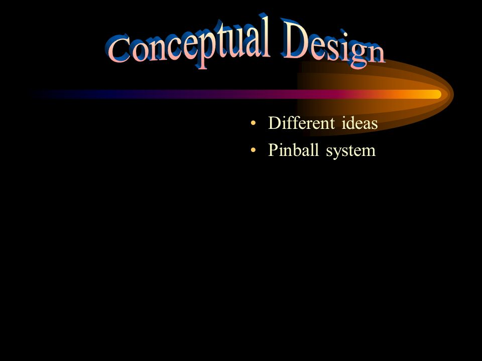 Conceptual Design Different ideas Pinball system
