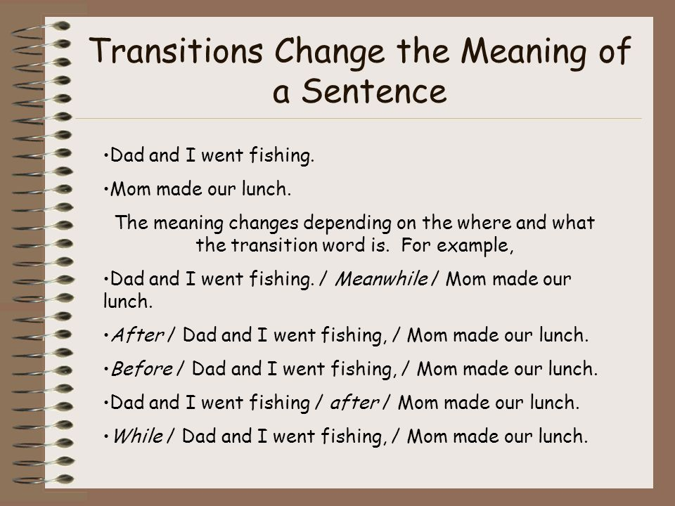 transition sentence in essay Keep your ideas clear and logical with the right transition words for  when  writing any essay, it's important that all of your ideas progress in a.