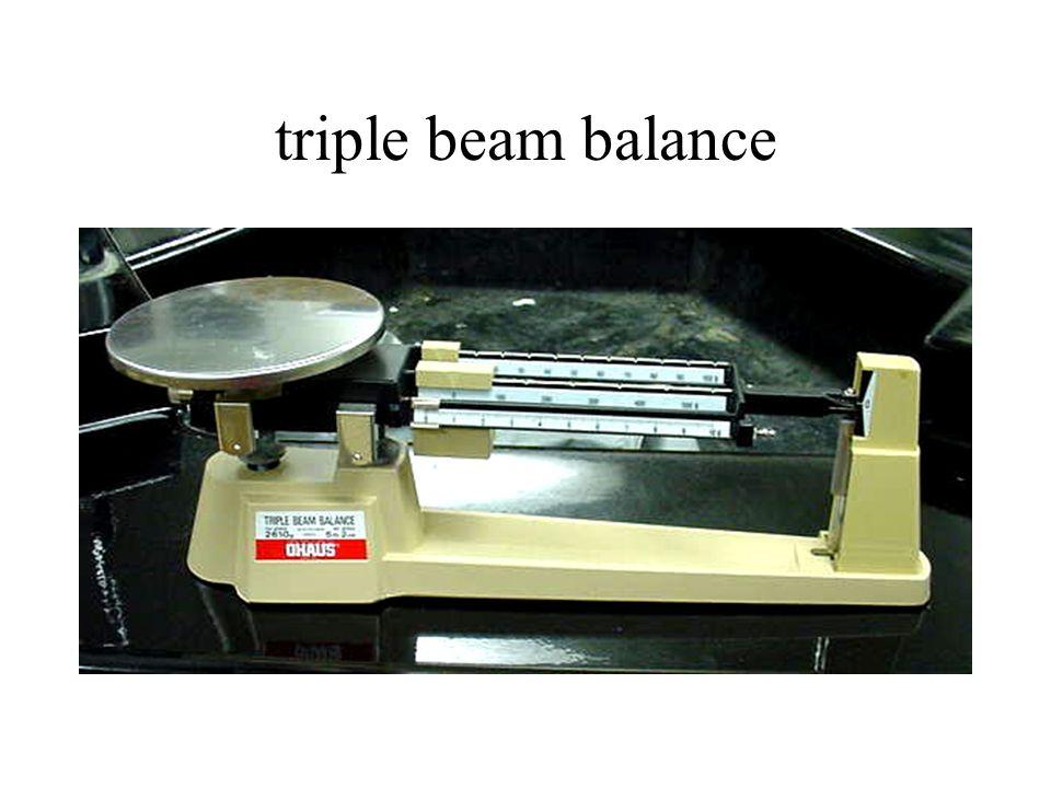 triple beam balance