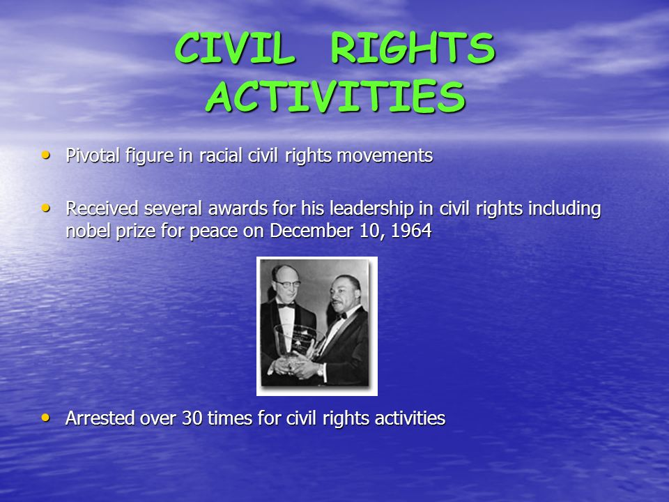 CIVIL RIGHTS ACTIVITIES