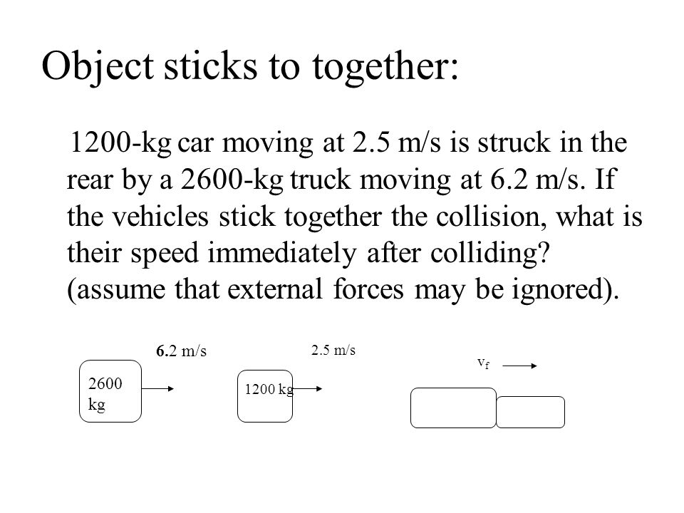Object sticks to together: