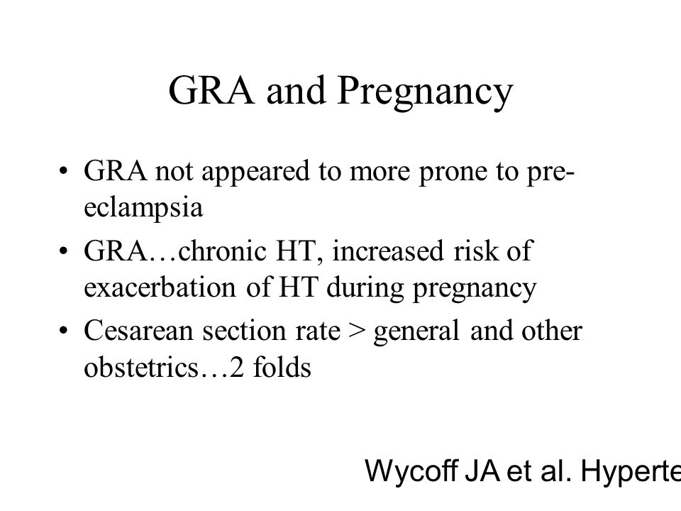 GRA and Pregnancy GRA not appeared to more prone to pre-eclampsia