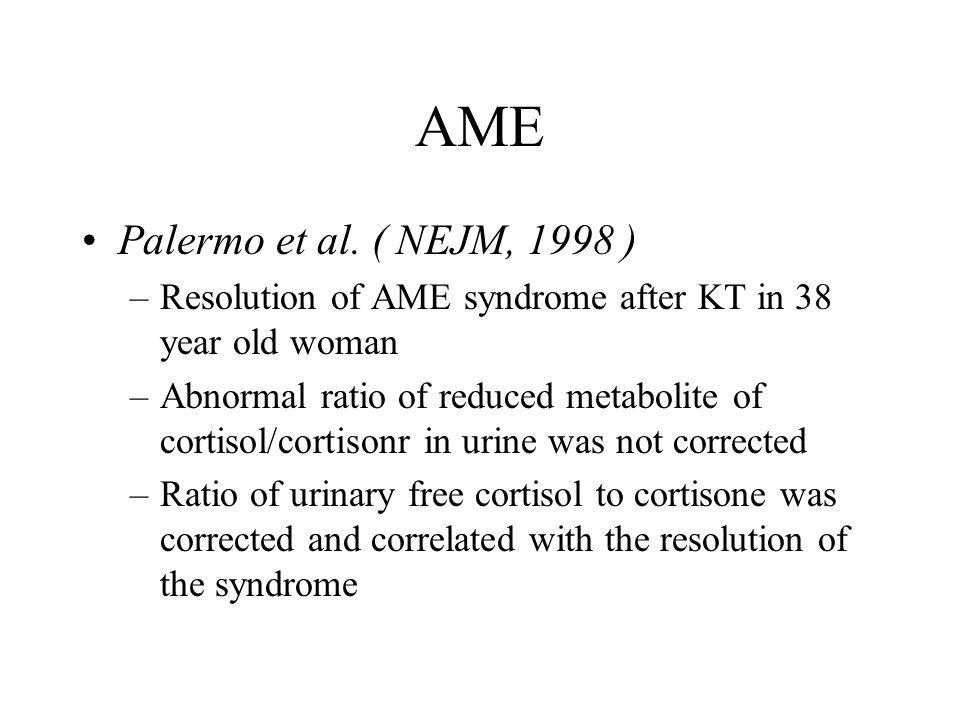 AME Palermo et al. ( NEJM, 1998 )